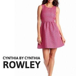 · Pink & Navy Dress ·